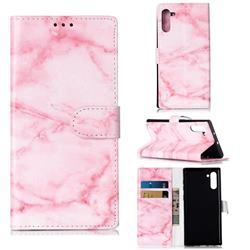 Pink Marble PU Leather Wallet Case for Samsung Galaxy Note 10 (6.28 inch) / Note10 5G