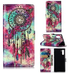 Butterfly Chimes PU Leather Wallet Case for Samsung Galaxy Note 10 (6.28 inch) / Note10 5G