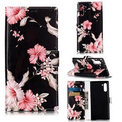 Azalea Flower PU Leather Wallet Case for Samsung Galaxy Note 10 (6.28 inch) / Note10 5G