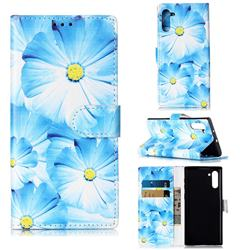Orchid Flower PU Leather Wallet Case for Samsung Galaxy Note 10 (6.28 inch) / Note10 5G