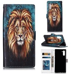 Ice Lion 3D Relief Oil PU Leather Wallet Case for Samsung Galaxy Note 10 (6.28 inch) / Note10 5G