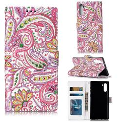 Pepper Flowers 3D Relief Oil PU Leather Wallet Case for Samsung Galaxy Note 10 (6.28 inch) / Note10 5G