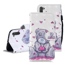 Love Panda 3D Painted Leather Wallet Phone Case for Samsung Galaxy Note 10 (6.28 inch) / Note10 5G