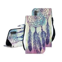 Feather Wind Chimes 3D Painted Leather Wallet Phone Case for Samsung Galaxy Note 10 (6.28 inch) / Note10 5G