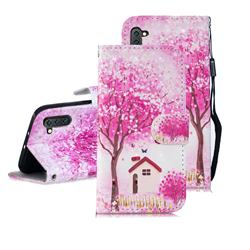 Tree House 3D Painted Leather Wallet Phone Case for Samsung Galaxy Note 10 (6.28 inch) / Note10 5G