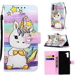 Spiral Pony Matte Leather Wallet Phone Case for Samsung Galaxy Note 10 (6.28 inch) / Note10 5G