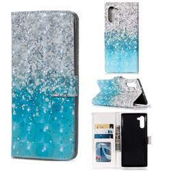 Sea Sand 3D Painted Leather Phone Wallet Case for Samsung Galaxy Note 10 (6.28 inch) / Note10 5G