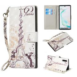 Tower Couple 3D Painted Leather Wallet Phone Case for Samsung Galaxy Note 10 (6.28 inch) / Note10 5G
