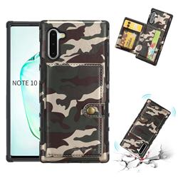 Camouflage Multi-function Leather Phone Case for Samsung Galaxy Note 10 (6.28 inch) / Note10 5G - Purple