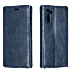Retro Slim Magnetic Crazy Horse PU Leather Wallet Case for Samsung Galaxy Note 10 (6.28 inch) / Note10 5G - Blue
