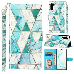 Stitching Marble 3D Leather Phone Holster Wallet Case for Samsung Galaxy Note 10 (6.28 inch) / Note10 5G