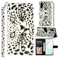 Leopard Panther 3D Leather Phone Holster Wallet Case for Samsung Galaxy Note 10 (6.28 inch) / Note10 5G