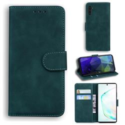 Retro Classic Skin Feel Leather Wallet Phone Case for Samsung Galaxy Note 10 (6.28 inch) / Note10 5G - Green