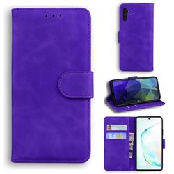 Retro Classic Skin Feel Leather Wallet Phone Case for Samsung Galaxy Note 10 (6.28 inch) / Note10 5G - Purple