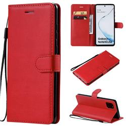Retro Greek Classic Smooth PU Leather Wallet Phone Case for Samsung Galaxy Note 10 Lite - Red
