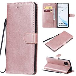 Retro Greek Classic Smooth PU Leather Wallet Phone Case for Samsung Galaxy Note 10 Lite - Rose Gold