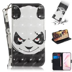 Angry Bear 3D Painted Leather Wallet Phone Case for Samsung Galaxy Note 10 Lite