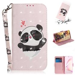 Heart Cat 3D Painted Leather Wallet Phone Case for Samsung Galaxy Note 10 Lite