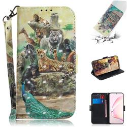 Beast Zoo 3D Painted Leather Wallet Phone Case for Samsung Galaxy Note 10 Lite