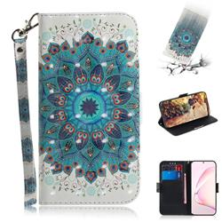 Peacock Mandala 3D Painted Leather Wallet Phone Case for Samsung Galaxy Note 10 Lite