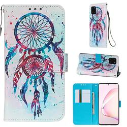 ColorDrops Wind Chimes 3D Painted Leather Wallet Case for Samsung Galaxy Note 10 Lite