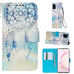 Fantasy Campanula 3D Painted Leather Wallet Case for Samsung Galaxy Note 10 Lite