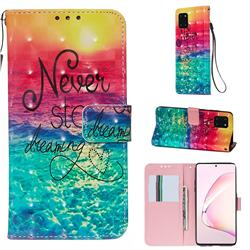 Colorful Dream Catcher 3D Painted Leather Wallet Case for Samsung Galaxy Note 10 Lite