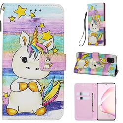 Spiral Pony Matte Leather Wallet Phone Case for Samsung Galaxy Note 10 Lite