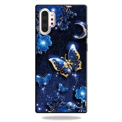 Phnom Penh Butterfly 3D Embossed Relief Black TPU Cell Phone Back Cover for Samsung Galaxy Note 10+ (6.75 inch) / Note10 Plus