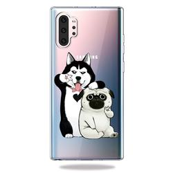 Selfie Dog Clear Varnish Soft Phone Back Cover for Samsung Galaxy Note 10+ (6.75 inch) / Note10 Plus