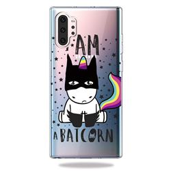 Batman Clear Varnish Soft Phone Back Cover for Samsung Galaxy Note 10+ (6.75 inch) / Note10 Plus
