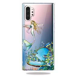 Mermaid Clear Varnish Soft Phone Back Cover for Samsung Galaxy Note 10+ (6.75 inch) / Note10 Plus