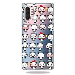 Mini Panda Clear Varnish Soft Phone Back Cover for Samsung Galaxy Note 10+ (6.75 inch) / Note10 Plus