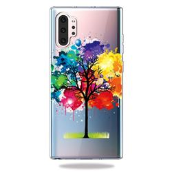 Oil Painting Tree Clear Varnish Soft Phone Back Cover for Samsung Galaxy Note 10+ (6.75 inch) / Note10 Plus