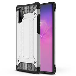 King Kong Armor Premium Shockproof Dual Layer Rugged Hard Cover for Samsung Galaxy Note 10+ (6.75 inch) / Note10 Plus - White