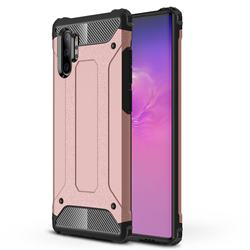 King Kong Armor Premium Shockproof Dual Layer Rugged Hard Cover for Samsung Galaxy Note 10+ (6.75 inch) / Note10 Plus - Rose Gold