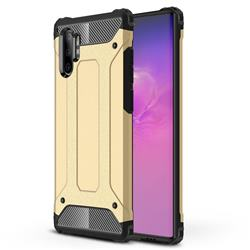 King Kong Armor Premium Shockproof Dual Layer Rugged Hard Cover for Samsung Galaxy Note 10+ (6.75 inch) / Note10 Plus - Champagne Gold