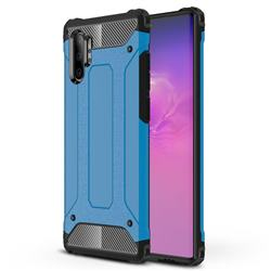 King Kong Armor Premium Shockproof Dual Layer Rugged Hard Cover for Samsung Galaxy Note 10+ (6.75 inch) / Note10 Plus - Sky Blue
