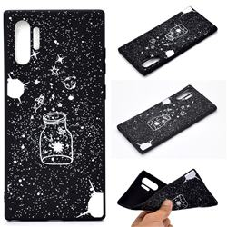 Travel The Universe Chalk Drawing Matte Black TPU Phone Cover for Samsung Galaxy Note 10+ (6.75 inch) / Note10 Plus