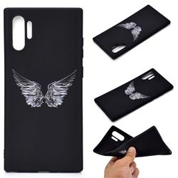 Wings Chalk Drawing Matte Black TPU Phone Cover for Samsung Galaxy Note 10+ (6.75 inch) / Note10 Plus