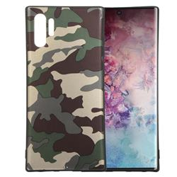 Camouflage Soft TPU Back Cover for Samsung Galaxy Note 10+ (6.75 inch) / Note10 Plus - Gold Green