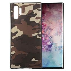 Camouflage Soft TPU Back Cover for Samsung Galaxy Note 10+ (6.75 inch) / Note10 Plus - Gold Coffee