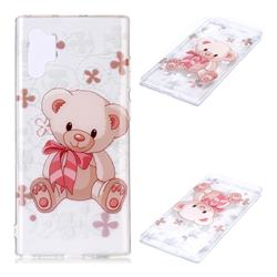 Cute Little Bear Super Clear Soft TPU Back Cover for Samsung Galaxy Note 10+ (6.75 inch) / Note10 Plus