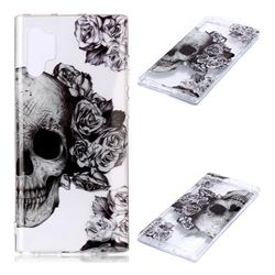 Skull Rose Super Clear Soft TPU Back Cover for Samsung Galaxy Note 10+ (6.75 inch) / Note10 Plus