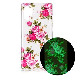Peony Noctilucent Soft TPU Back Cover for Samsung Galaxy Note 10+ (6.75 inch) / Note10 Plus