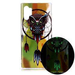 Owl Wind Chimes Noctilucent Soft TPU Back Cover for Samsung Galaxy Note 10+ (6.75 inch) / Note10 Plus