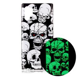 Red-eye Ghost Skull Noctilucent Soft TPU Back Cover for Samsung Galaxy Note 10+ (6.75 inch) / Note10 Plus