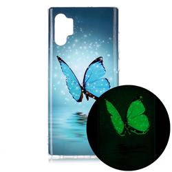 Butterfly Noctilucent Soft TPU Back Cover for Samsung Galaxy Note 10+ (6.75 inch) / Note10 Plus