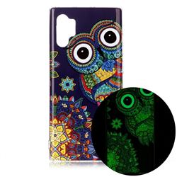 Tribe Owl Noctilucent Soft TPU Back Cover for Samsung Galaxy Note 10+ (6.75 inch) / Note10 Plus
