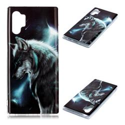 Fierce Wolf Soft TPU Cell Phone Back Cover for Samsung Galaxy Note 10+ (6.75 inch) / Note10 Plus